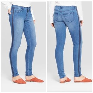 Mid-rise skinny jeans size16